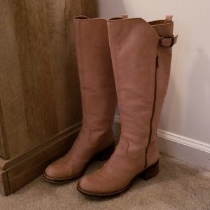 LUCKY BRAND rustic tan knee high boots
